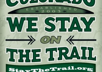 In CO Stay the Trail Poster
