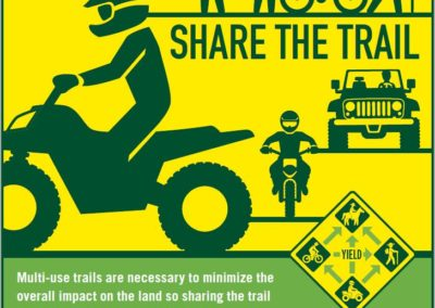 Share the Trail poster