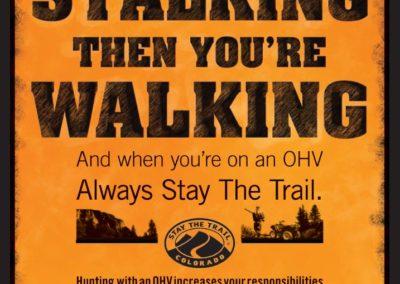 Stalking Walking Poster