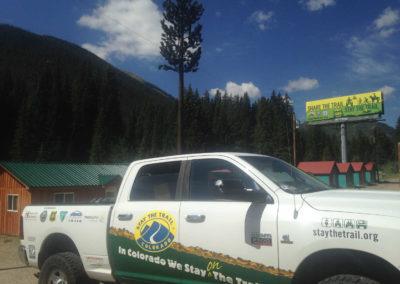 Truck and billboard