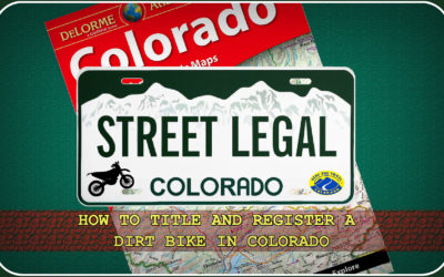 How to make a dirt bike street legal in Colorado
